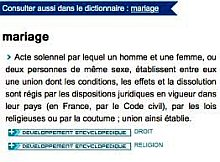 definition du mariage small