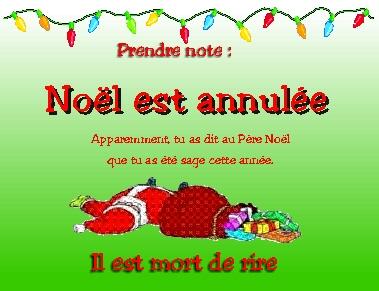 Noel Est Annule