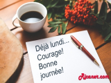 Déjà lundi...Courage! Bonne journée!